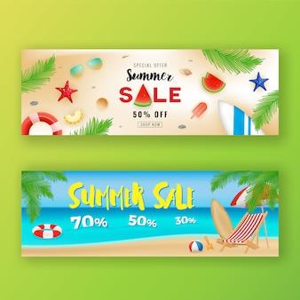 Lato sprzedaż promocja transparent tło