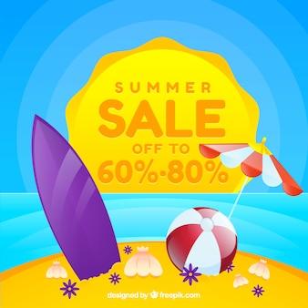 Lato sprzedaż tło w realistyczny styl