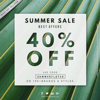 Lato sprzedaż transparent