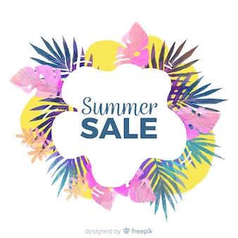 Lato sprzedaż tropikalny transparent