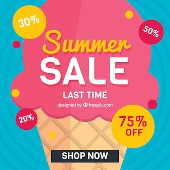 Lato sprzedaży tła z lodami