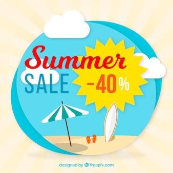 Lato sprzedaży tła z słońca i parasol