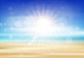 Lato streszczenie tło z motywem plaży