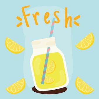 Lato świeże z sokiem z cytryny