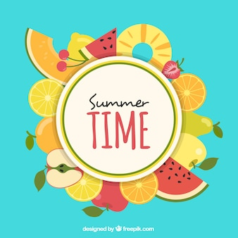 Lato tle owoców