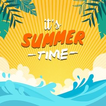 Lato tle plaży