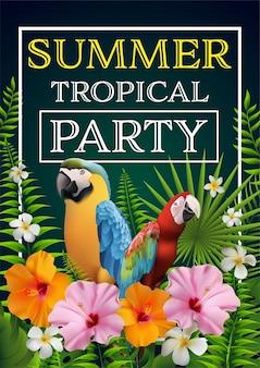 Lato tropikalny plakat party