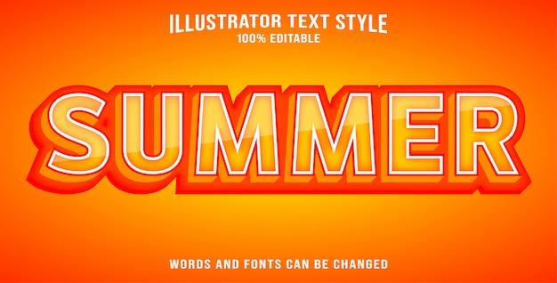 Lato w stylu tekstowym