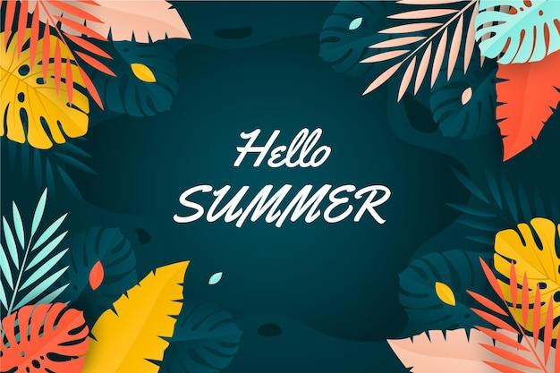 Lato w tle kolorowy styl