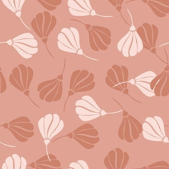 Lato Wzór Z Doodle Losowe Kształty Kwiatów. Premium Wektorów