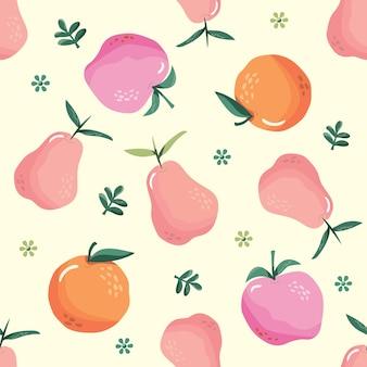 Lato wzór z owocami.