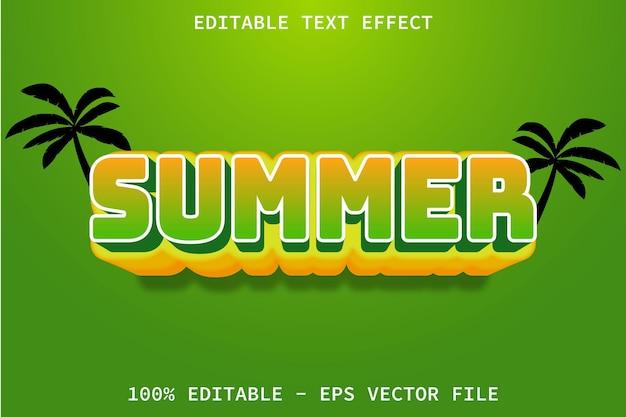 Lato z edytowalnym efektem tekstowym w stylu cartoon emboss