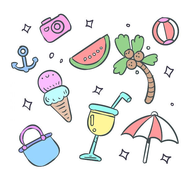 Lato zbiory ilustracji