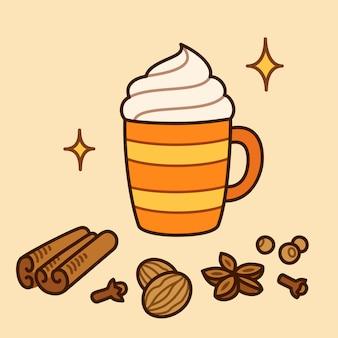 Latte spice pumpkin