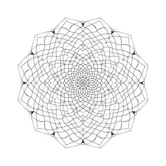 Łatwo edytowalne i skalowalne kolorowanie tła mandali