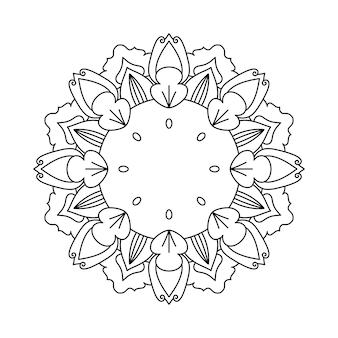 Łatwo edytowalne i skalowalne tło kwiatowej mandali