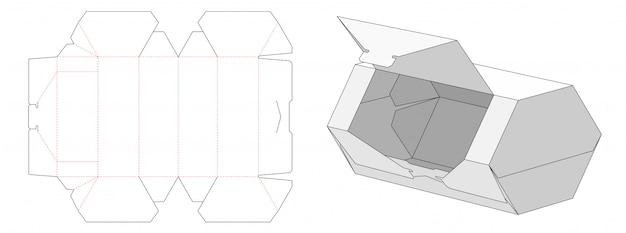 Łatwo otwierany szablon w kształcie sześciokąta