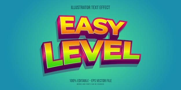 Łatwy efekt tekstowy, edytowalny styl tekstu