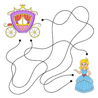 Łatwy labirynt. labirynt dla dzieci. arkusz aktywności. puzzle dla dzieci.