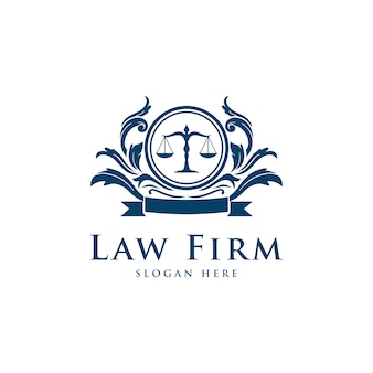 Law firm lawyer services, luxury vintage crest logo
