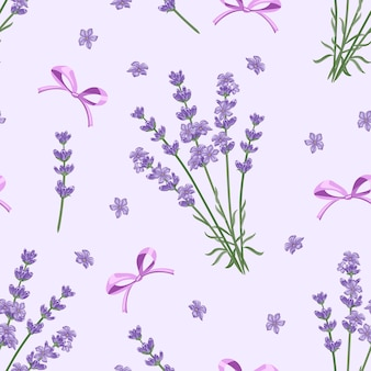 Lawenda i łuki na fioletowym tle wzór.