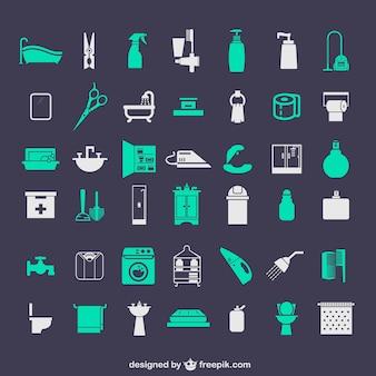 Łazienka zestaw ikon