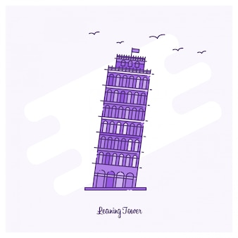 Leaning tower landmark