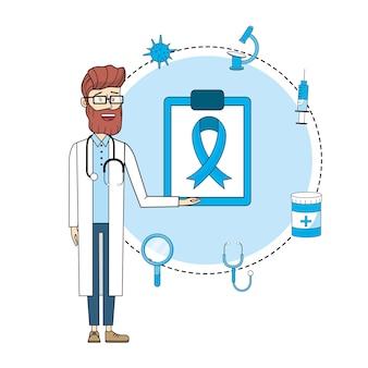 Leczenie Dysgnosis Lekarz Z Konsultacji Stetoskop Premium Wektorów