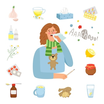 Leczenie grypy lub przeziębienia
