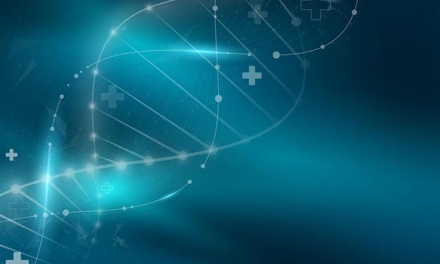 Leczenie w koncepcji innowacji abstrakcyjnej technologii komunikacji koncepcja tło wektor.