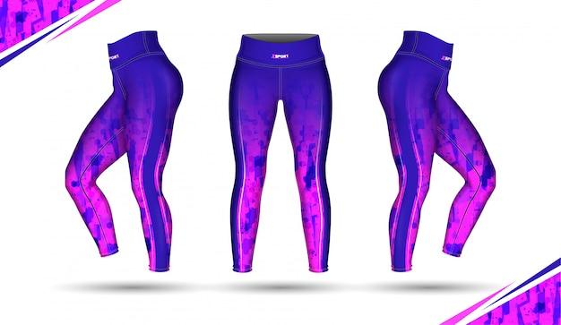 Legginsy spodnie szkolenia wektor ilustracja moda z pleśnią