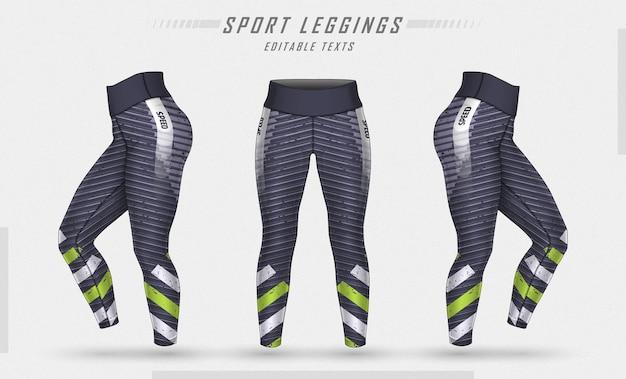 Legginsy spodnie treningowe ilustracja moda z pleśnią