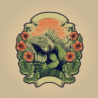 Legwan zielony