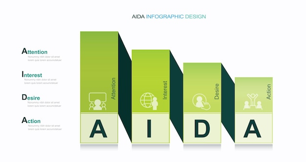 Lejek zakupowy lub model marketingowy lejka konwersji infografika schemat ilustracji
