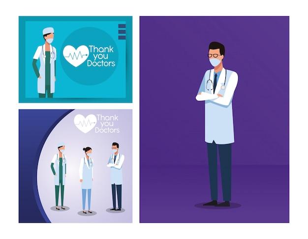 Lekarka personel z laboranckiego wyposażenia wektorowym ilustracyjnym projektem