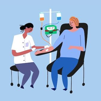 Lekarz czy pacjent z rakiem po chemioterapii
