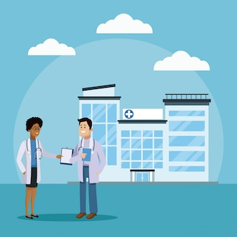 Lekarz i pacjent w szpitalu