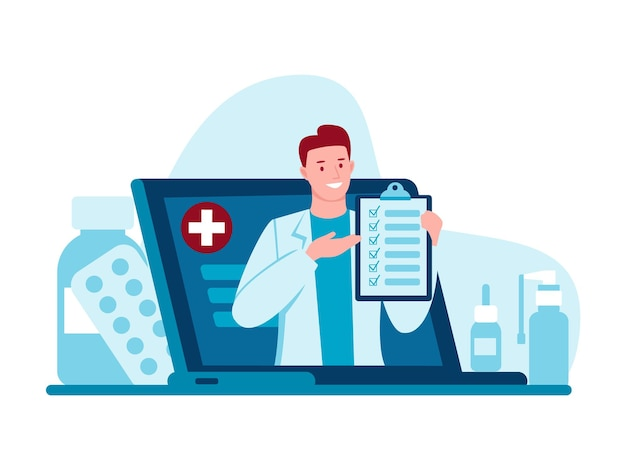 Lekarz internetowy telemedycyna konsultacja lekarzy przez internet z lekarzem