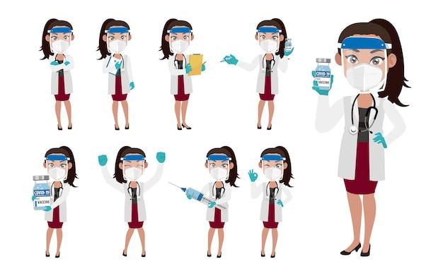 Lekarz noszący zestaw ochronny do walki z koronawirusem