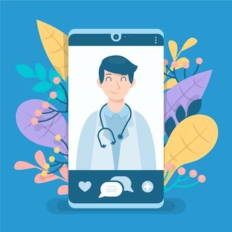Lekarz online na smartfonie