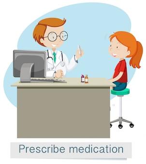 Lekarz podający lek przepisujący lek