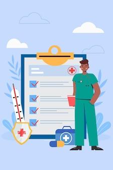 Lekarz przedstawiający przypadek pacjenta