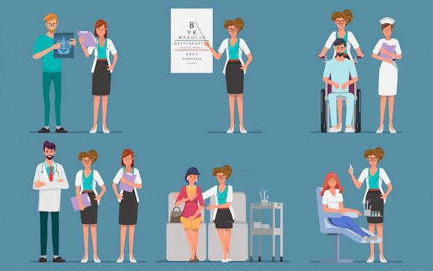 Lekarz z charakterem pacjenta. choroba pomocnicza charakteru usług medycznych.