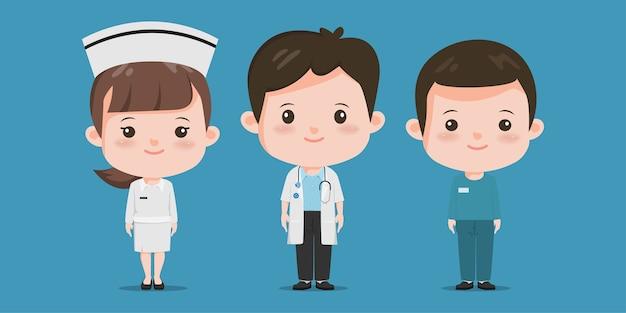Lekarz z medycznym projektem stetoskopu. pracownicy szpitala.