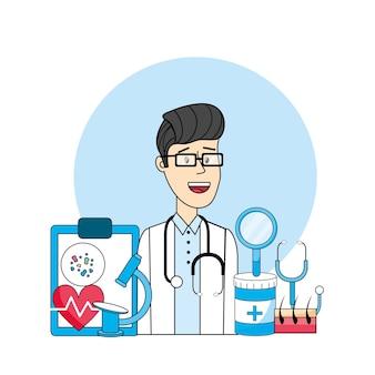Lekarz z profilaktyką medyczną zapobiegania