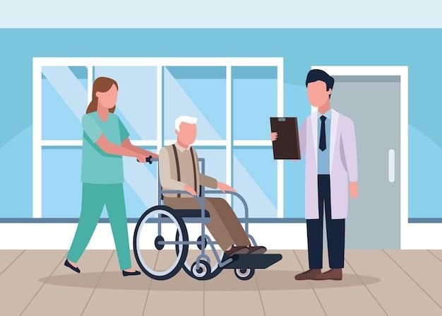 Lekarze geriatrii i dziadek
