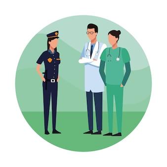 Lekarze i policja