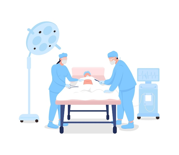 Lekarze w chirurgii płaskiej.