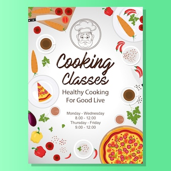 Lekcje gotowania projekt plakatu