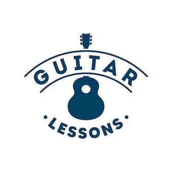 Lekcje gry na gitarze retro logo